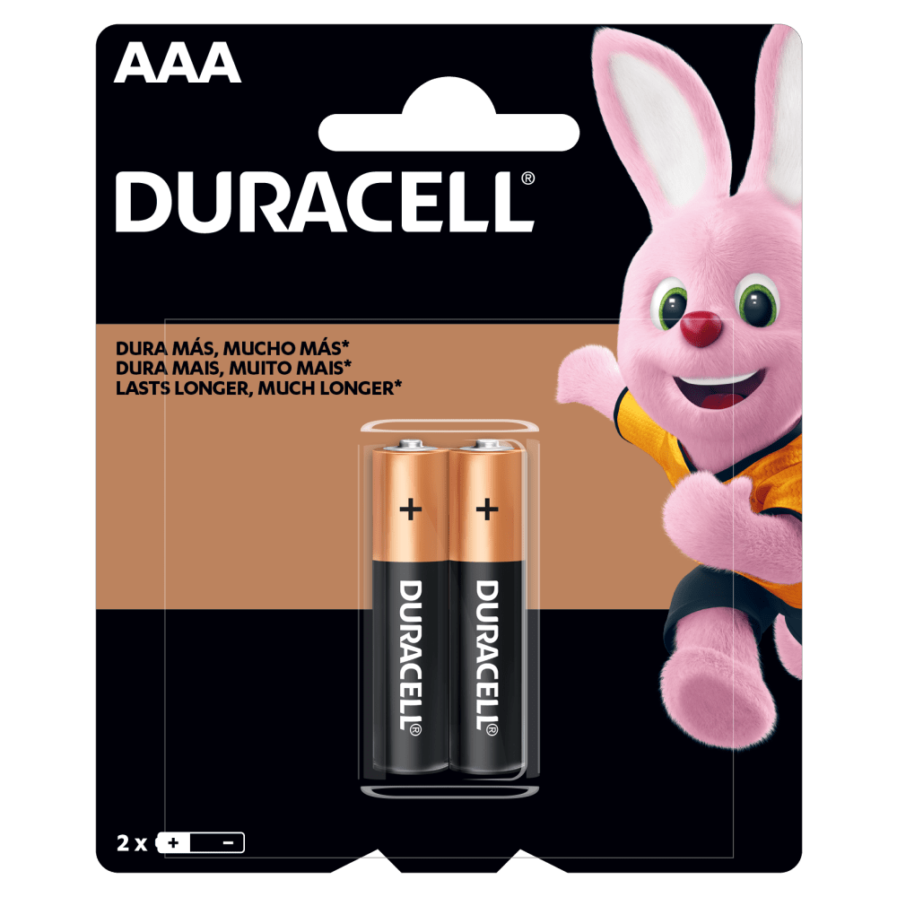 Pilas Duracell Alcalinas AAA paquete