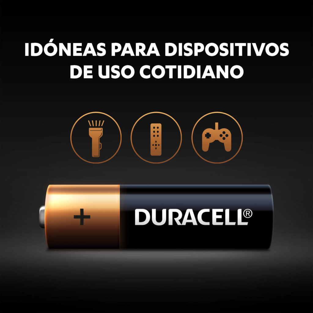 Pilas Duracell Alcalinas AA -uso cotidiano
