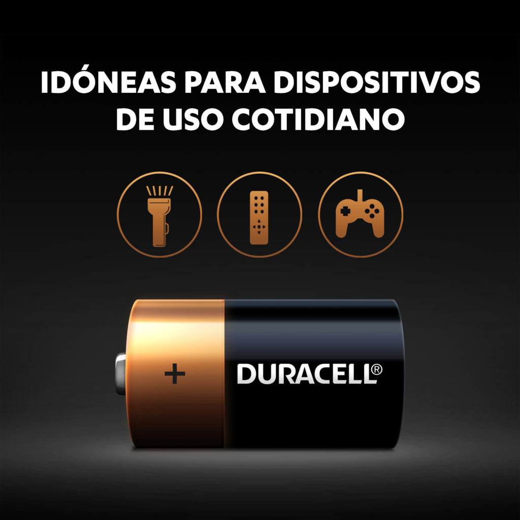 Pilas Duracell Alcalinas C uso cotidiano